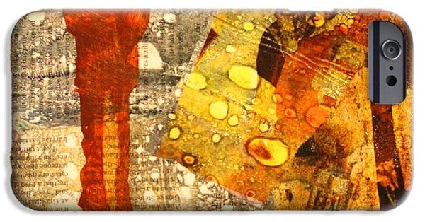 Abstract Rain iPhone Cases - Acid Rain iPhone Case by Nancy Merkle