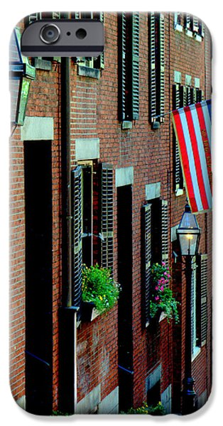 Federalist Style iPhone Cases - Acorn Street Two iPhone Case by Caroline Stella