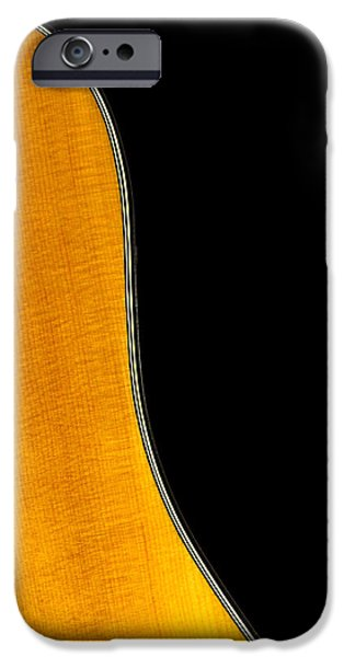 Acoustic Curve In Black iPhone Case by Bob Orsillo