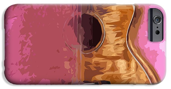 Beatles iPhone Cases - Acoustic Guitar 5 iPhone Case by Pablo Franchi