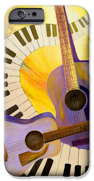 Nashville Paintings iPhone Cases - Acoustics in Space iPhone Case by Larry Martin