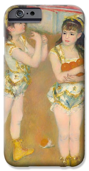 Small iPhone Cases - Acrobats at the Circus iPhone Case by Auguste Renoir
