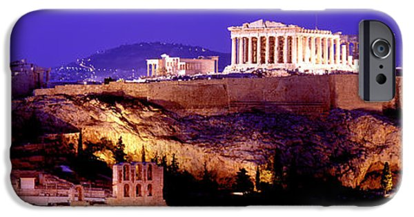 Acropolis iPhone Cases - Acropolis, Athens, Greece iPhone Case by Panoramic Images