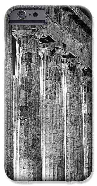 Acropolis iPhone Cases - Acropolis Columns iPhone Case by John Rizzuto