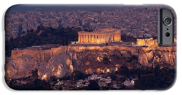 Acropolis iPhone Cases - Acropolis Of Athens, Athens, Attica iPhone Case by Panoramic Images