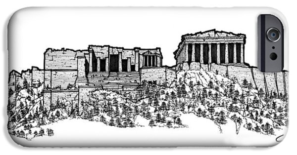 Temple Of Athena Nike iPhone Cases - Acropolis of Athens iPhone Case by Calvin Durham