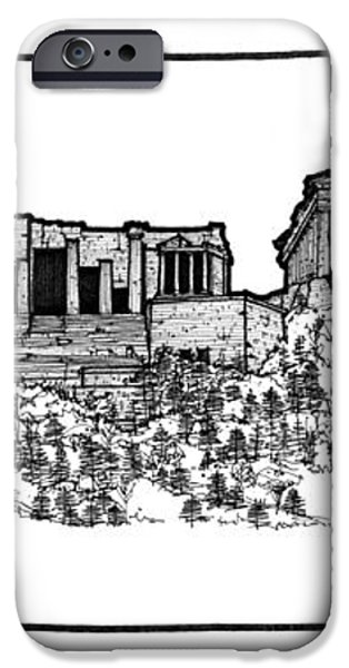 Acropolis of Athens iPhone Case by Calvin Durham