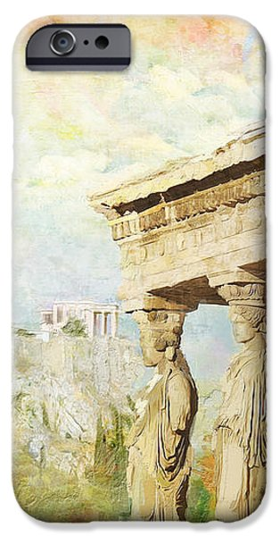 Acropolis of Athens iPhone Case by Catf