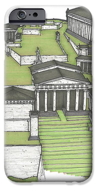 Acropolis of Athens Restored iPhone Case by Calvin Durham