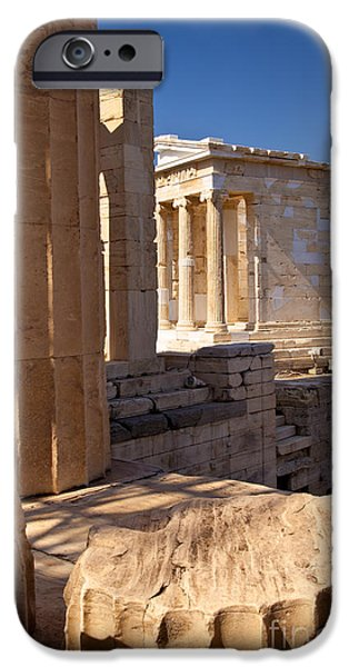 Nike Photographs iPhone Cases - Acropolis Temple iPhone Case by Brian Jannsen