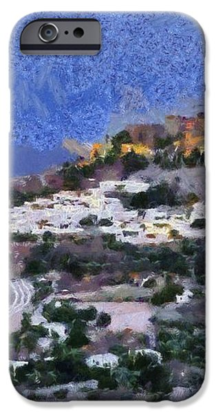 Acropolis village and beach of Lindos iPhone Case by George Atsametakis
