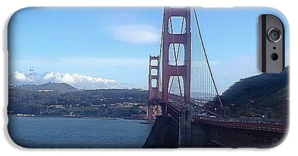 Sausalito Ca iPhone Cases - Across The Bay iPhone Case by Christy Gendalia