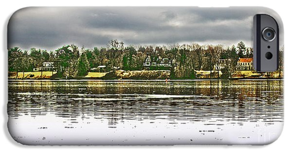 Dunk iPhone Cases - Across The Delaware River iPhone Case by Tom Gari Gallery-Three-Photography