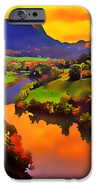 Across the Valley iPhone Case by Stephen Anderson