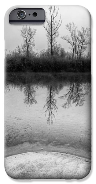 Morning iPhone Cases - Across the water iPhone Case by Davorin Mance