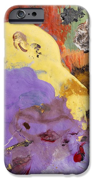 Pallet Knife iPhone Cases - Acrylic Abstract Painting iPhone Case by Donald  Erickson