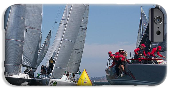 Sausalito iPhone Cases - Action on The Bay iPhone Case by Steven Lapkin