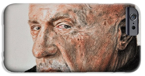 Michael Mixed Media iPhone Cases - Actor Jonathan Banks as Mike Ehrmantraut in Breaking Bad iPhone Case by Jim Fitzpatrick