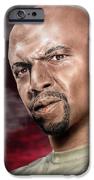 Buildings Mixed Media iPhone Cases - Actor Terry Crews II iPhone Case by Jim Fitzpatrick