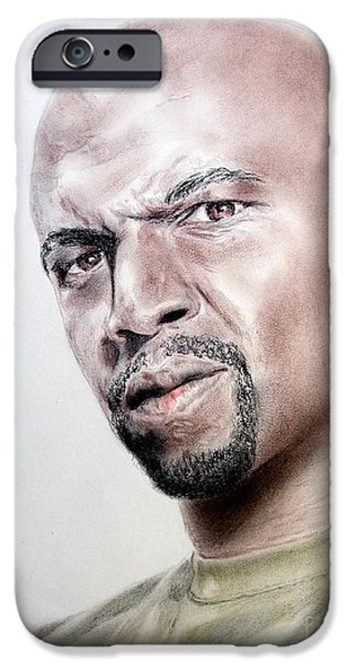 Buildings Mixed Media iPhone Cases - Actor Terry Crews iPhone Case by Jim Fitzpatrick