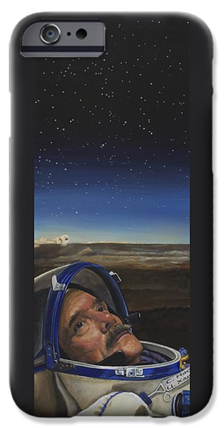 Chris iPhone Cases - Ad Astra - Col. Chris Hadfield iPhone Case by Simon Kregar