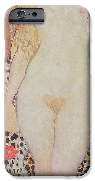 Innocence iPhone Cases - Adam And Eve, 1917-18 iPhone Case by Gustav Klimt