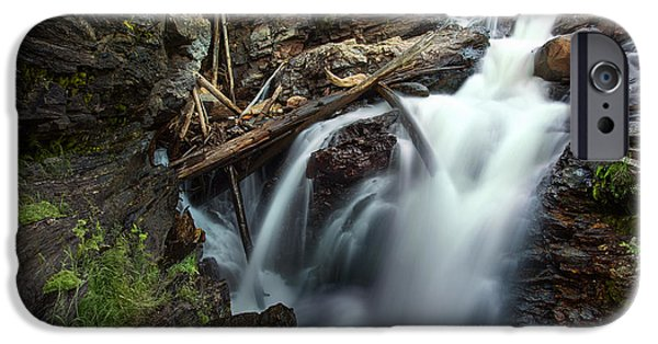 Adam iPhone Cases - Adams Falls iPhone Case by Thomas Zimmerman
