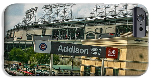 Wrigley iPhone Cases - Addison and Wrigley iPhone Case by John McGraw