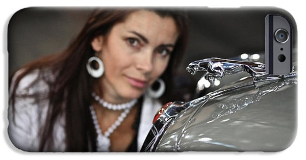 Cult Photos iPhone Cases - Adel Black Jagger Love classic Oldies Jaguar. iPhone Case by  Andrzej Goszcz