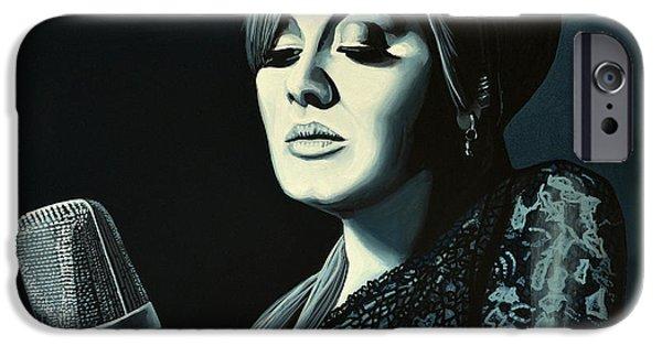 Celebrities Art iPhone Cases - Adele Skyfall iPhone Case by Paul Meijering