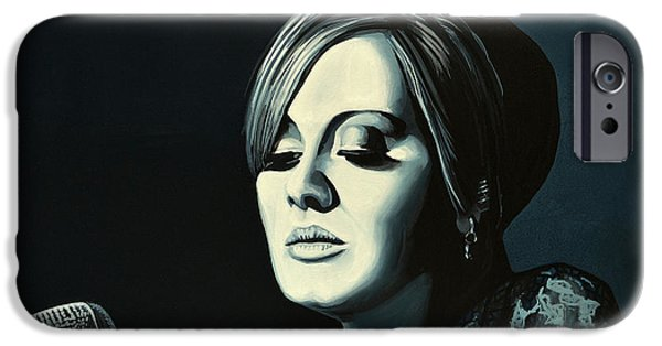 Singer-songwriter iPhone Cases - Adele Skyfall iPhone Case by Paul Meijering