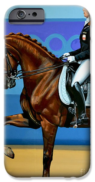 Equestrian iPhone Cases - Adelinde Cornelissen on Parzival iPhone Case by Paul  Meijering