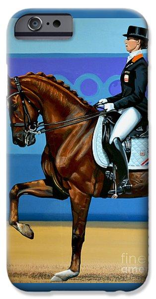 Sport Games Paintings iPhone Cases - Adelinde Cornelissen on Parzival iPhone Case by Paul Meijering