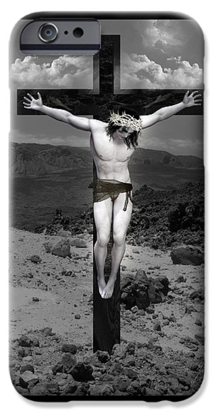 Christ Artwork iPhone Cases - Jesus Christ Intact iPhone Case by Quim Abella