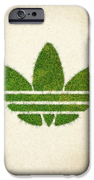Waste iPhone Cases - Adidas Grass Logo iPhone Case by Aged Pixel