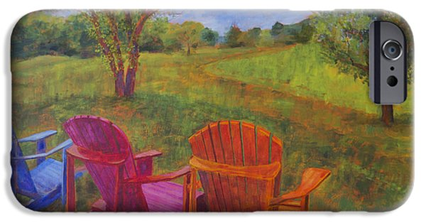 Leipers Fork iPhone Cases - Adirondack Chairs in Leipers Fork iPhone Case by Arthur Witulski
