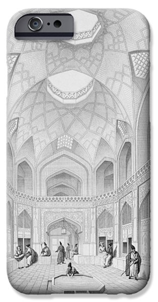 Interior Scene iPhone Cases - Adji Seid Hussein Bazaar iPhone Case by Pascal Xavier Coste