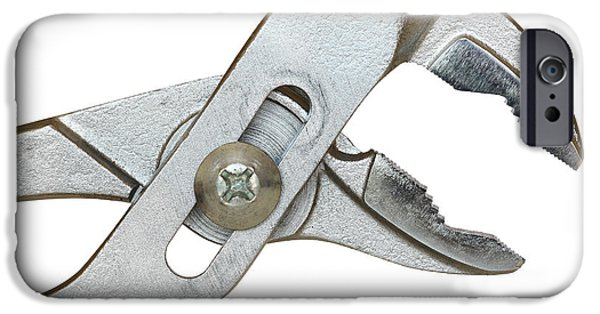 Hand Tool iPhone Cases - Adjustable Joint Pliers iPhone Case by Michal Boubin
