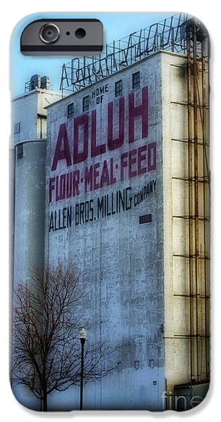 Feed Mill Photographs iPhone Cases - Adluh Flower Mill iPhone Case by Skip Willits