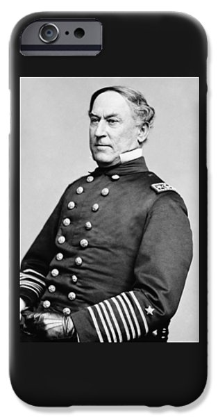 Admiral iPhone Cases - Admiral David Farragut iPhone Case by War Is Hell Store