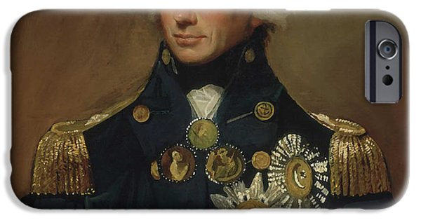 Royal Paintings iPhone Cases - Admiral Horatio Nelson iPhone Case by War Is Hell Store