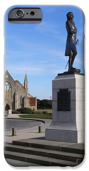 Admiral Lord Nelson and Royal Garrison Church iPhone Case by Terri  Waters