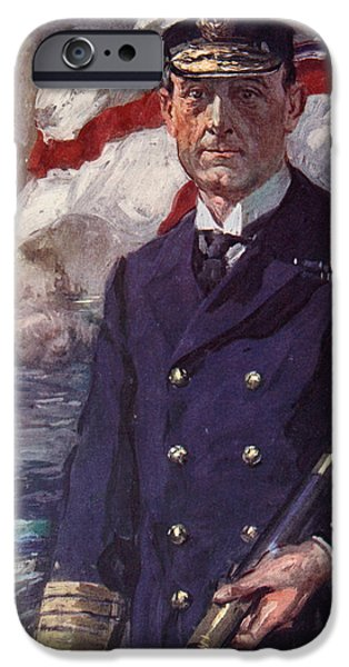 World War One Paintings iPhone Cases - Admiral Sir John Jellicoe iPhone Case by Cyrus Cuneo