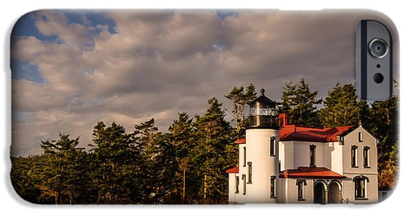 Casey iPhone Cases - Admiralty Head Lighthouse iPhone Case by Dan Mihai