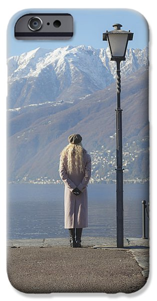 admiring the mountains iPhone Case by Joana Kruse