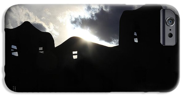 New Mexico Digital iPhone Cases - Adobe in the Sun iPhone Case by Mike McGlothlen