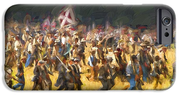 Civil War Re-enactment iPhone Cases - Advancing to the Front iPhone Case by Paul W Faust -  Impressions of Light