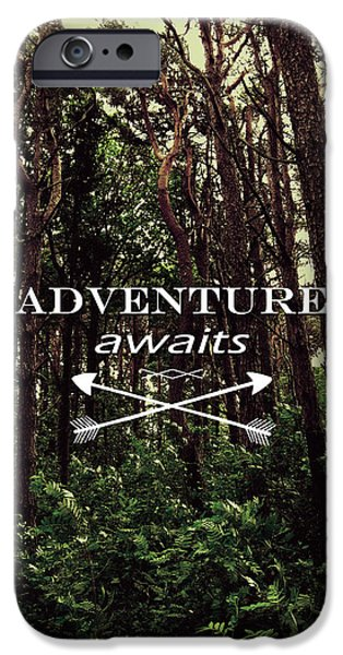 Outdoors Digital Art iPhone Cases - Adventure Awaits iPhone Case by Nicklas Gustafsson