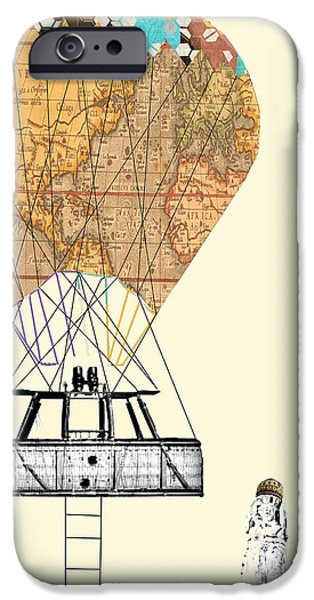 Hot Air Balloon Mixed Media iPhone Cases - Adventure Days  iPhone Case by Bri Buckley