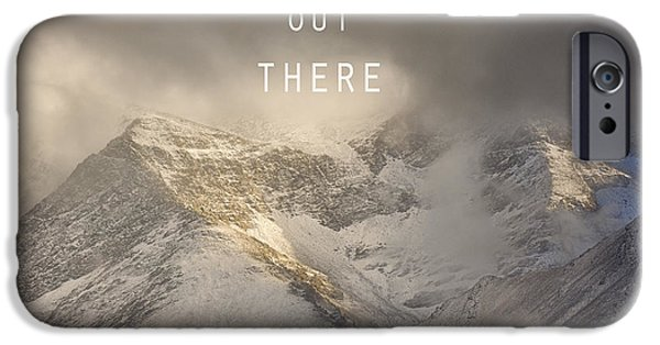 Lanscape iPhone Cases - Adventure is out there. At the mountains iPhone Case by Guido Montanes Castillo